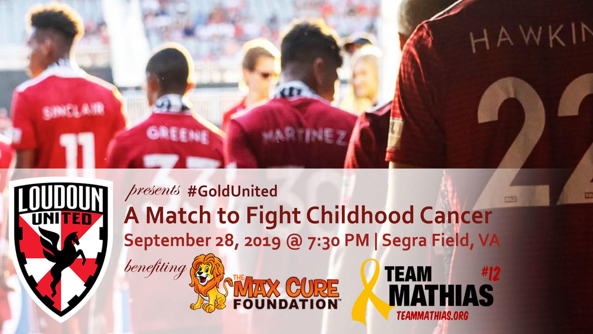 Gold United   A Match to Fight Childhood Cancer